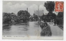 (RECTO / VERSO) AMIENS EN 1915 - N° 87 - LES RIVES DE LA SOMME AVEC PERSONNAGES - BEAU CACHET - CPA VOYAGEE - Amiens