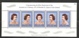New Zealand 1977 QEII Accession Silver Jubilee Miniature Sheet MNH - New Zealand