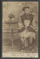 Chine - China - Carte Photo ? De 1903  - Chinoise Aux Petits Pieds - Fillette - Jeune Femme - Photographe A Identifier - China