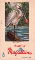 Ancien BUVARD Illustré Biscottes MAGDELEINE à GRANVILLE .la SPATULE - Biscottes
