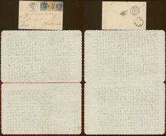 """Lettre """"valentine"""" De Colmar Pour La Poméranie ( Allemagne) 1868, Tarif 50 Cts, 3 Timbres - Marcophilie (Lettres)"""