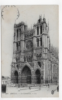 (RECTO / VERSO) AMIENS EN 1920 - N° 215 - LA CATHEDRALE - CPA VOYAGEE - Amiens