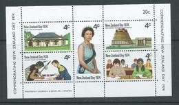 New Zealand 1974 QEII / NZ Day Miniature Sheet MNH - Unused Stamps