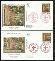 2 FDC Lettres Illustrées Premier Jour Arras Et Montréal Le 26/11/1994  N°2915 Croix Rouge Tapisserie Soldé à Moinsde 20% - FDC