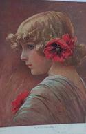 """Künstlerkarte, Frauen, Klatschmohn""  1916 ♥  - Enfants"