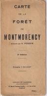 CARTE DE LA FORET DE MONTMORENCY - A. PONSIN - GIRARD ET BARRERE - Cartes Géographiques