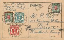Deutschland - Auf Postkarte - Danzig - Karte Von Danzig - Zoppot - Dantzig