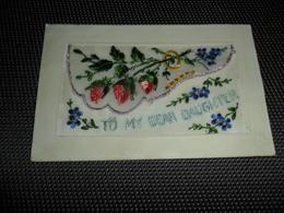 Carte Brodée ( 20 )  Geborduurde Kaart  Carte Enveloppe - Embroidered