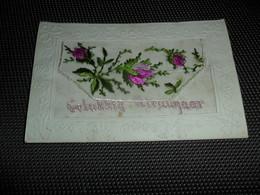 Carte Brodée ( 23 )  Geborduurde Kaart  Carte Enveloppe - Brodées