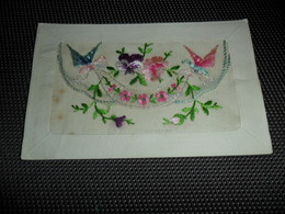 Carte Brodée ( 25 )  Geborduurde Kaart  Carte Enveloppe - Embroidered