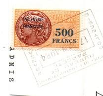 Fiscal Polynésie Française - 500 FCFP Sur Fragment 1984 - Polynésie Française