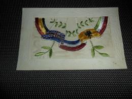 Carte Brodée ( 28 )  Geborduurde Kaart  Carte Enveloppe - Brodées