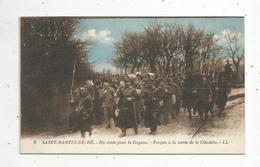 Cp , Bagnards ,en Route Pour La GUYANE ,forçats à La Sortie De La Citadelle ,17 ,  SAINT MARTIN DE RE ,vierge - Bagne & Bagnards