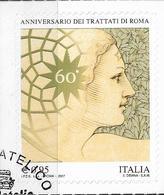 2017 Italien Mi.3973 Used    60 Jahre Römische Verträge. - 6. 1946-.. Republik