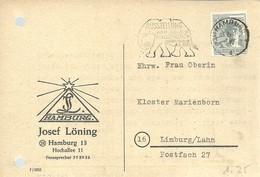 POSTMARKET ALEMANIA 1948 - Elefantes