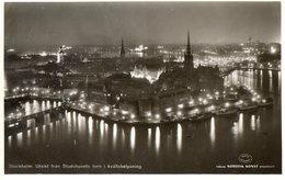 SVEZIA-STOCCOLMA-NOTTURNO-PANORAMA--1957 - Svezia