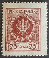 1924, Eagle In Laurel Wreath,  Poczta Polska, Poland, Polen, MLH - Oblitérés