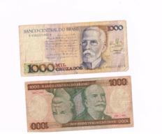Lot De 4 Billets Usagés. - Brésil