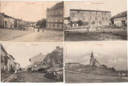 Lot 4 CPA Moyen Place De La Mairie Vue Intérieure Générale Ancienne Maison Abbatiale 54 Meurthe Et Moselle - Sonstige Gemeinden