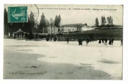 Paysages Et Scènes Franc Comtois - 45 - Luxeuil Les Bains - Patinage Sur Le Lac Luxovien (animation) Circulé 1911 - Luxeuil Les Bains