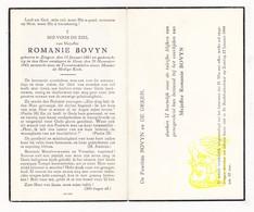 DP Romanie Bovyn ° Zingem 1861 † Gent 1943 / De Deken - Images Religieuses