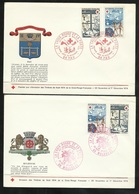 2 FDC Lettres Premier Jour Illustrées Pau/Mulhouse 30/11/1974 N°1828 & 1829  Croix Rouge  B/TB Soldes à Moins De 15 % ! - FDC