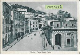 Lazio-latina-gaeta Piazza Martiri Fascisti Animata Veduta Piazza Anni 30 40 (v.retro) - Italy