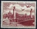 """FR Aerien YT 28 (PA) """" Vue De Paris 100F. """" 1949 Neuf* - 1927-1959 Mint/hinged"""