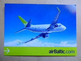AIR BALTIC  B 737     AIRLINE ISSUE / CARTE COMPAGNIE - 1946-....: Modern Era