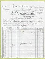 """JOINVILLE  (52) : """" VINS DE CHAMPAGNE - Vve DEVINOT & Fils """"  1883 - France"""