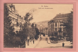OUDE POSTKAART ZWITSERLAND - SCHWEIZ -  SUISSE -   ST. GALLEN - PARTIE BEI BRODERB RUNNEN - SG St. Gall