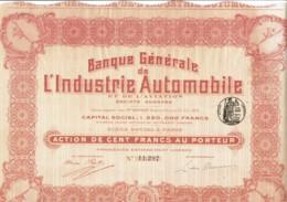 75-BANQUE GENERALE DE L'INDUSTRIE AUTOMOBILE & DE L'AVIATION - Actions & Titres
