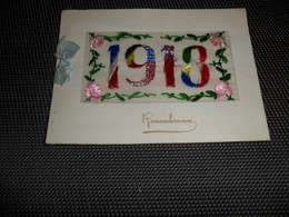 Carte Brodée ( 58 )  Geborduurde Kaart  ( Pas Une Carte Postale , Carte De Voeux )   Guerre  Oorlog  1918 - Borduurwerk