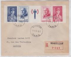 LSC - REC AVEC Bande N°568-571 Avec Francisque - BOISSERON / 17.2.43 - Marcophilie (Lettres)