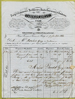 "RIMAUCOURT  (52) : "" FORGES & LAMINOIRS - CAPITAIN Ainé & Cie ""  1844 - France"
