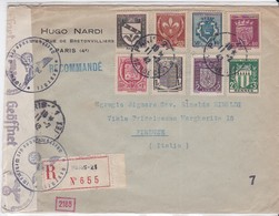 LSC - REC. De PARIS Pour FLORENCE  Du 11/2/42 - 1921-1960: Moderne
