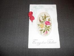 Carte Brodée ( 80 )  Geborduurde Kaart  ( Pas Une Carte Postale , Carte De Voeux ) - Brodées