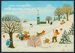 C4057 - Ilse Nagel Glückwunschkarte Weihnachten - Winterlandschaft - Other
