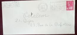 Courrier Avec Plusieurs Erreurs D Oblitérations Flamme St.Laurent En Grandvaux Jura 1973 - Mechanical Postmarks (Advertisement)