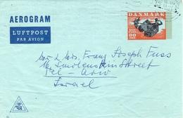 Danmark-Israel 1967 Mailed Air Letter / Aerogramme Michel#LF 19II - Postal Stationery