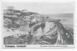Newquay, Cornwall - The Quay (Showing Atlantic Hotel) - Newquay