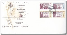 Cokos Islands 1990, Envelope, Navigators - Cocoseilanden