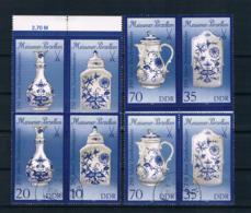 DDR 1989 Porzellan Mi.Nr. 3241/44 II Paare ** + Gestempelt - Neufs