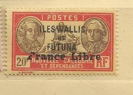 124 France Libre Luxe Trace Decharniére       (feuillinder) - Wallis En Futuna