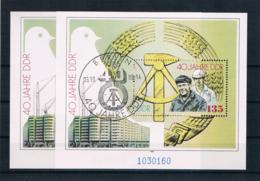 DDR 1989 40 Jahre DDR Block 100 ** + Gestempelt - [6] République Démocratique