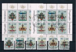 DDR 1989 Leuchterspinnen Mi.Nr. 3289/94 Kleinbogen ** + Gestempelt - Neufs