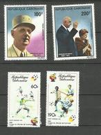 Gabon Poste Aérienne N°240 à 243 Neufs** Cote 6.85 Euros - Gabón (1960-...)