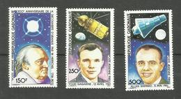 Gabon Poste Aérienne N°244 à 246 Neufs** Cote 8.60 Euros - Gabón (1960-...)