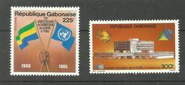 Gabon Poste Aérienne N°267, 268 Neufs** Cote 5.45 Euros - Gabón (1960-...)