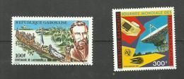 Gabon Poste Aérienne N°273, 274 Neufs** Cote 4.10 Euros - Gabón (1960-...)